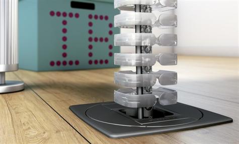 Unit stopcontact schuko houder voor 1 rj45 unit