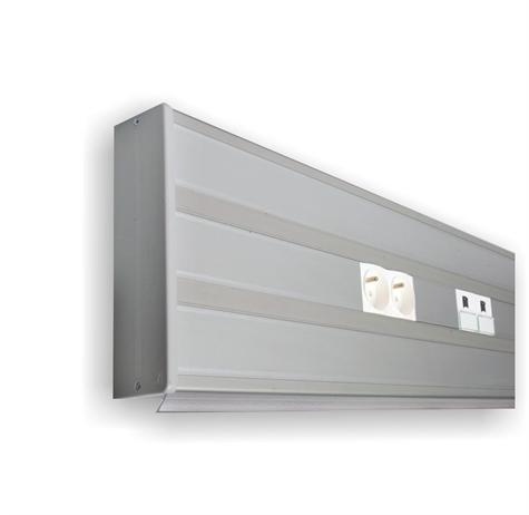 goulotte murale aluminium 160x54 clipsage 45 lg 2m. Black Bedroom Furniture Sets. Home Design Ideas