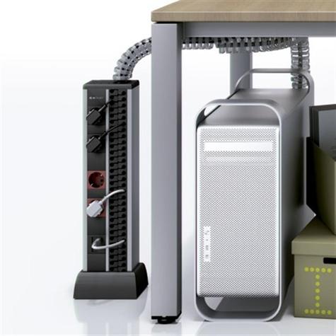 duplo 8 stopcontacten schuko houder voor 4 rj45 duplo minizuil stroom vloer tafel. Black Bedroom Furniture Sets. Home Design Ideas