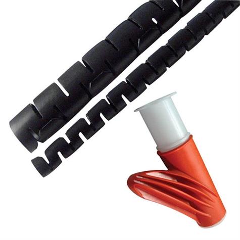 gaine spiral e flexible bobine de 30m gaines pour c bles pose rapide. Black Bedroom Furniture Sets. Home Design Ideas